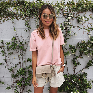 Sincerely Jules_chloé bag und rosa Shirt