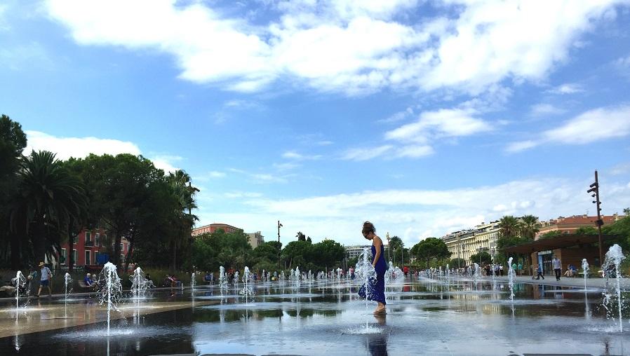 Wasserspiel in Nizza